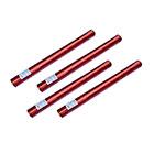 4er Set deelite Herz Confettishooter / Konfettikanonen 60cm mit roten Herzen