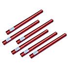 6er Set deelite Herz Confettishooter / Konfettikanonen 60cm mit roten Herzen