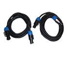 2er Set deetech SS-3 - Lautsprecherkabel 3m, 2x 2,5mm², Speaker Stecker, black