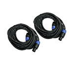 2er Set deetech SS-20 - Lautsprecherkabel 20m, 2x 2,5mm², Speaker Stecker, black