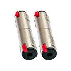 2er Set deetech Adapter 6,3mm Klinkenbuchse mono - 6,3mm Klinkenbuchse stereo