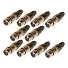 10er Set deetech XLR Stecker female, 3-polig / silber