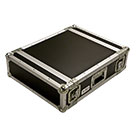 deetech 3 HE - Profi Endstufen Flightcase / Rack Double Door 9 mm, High Quality