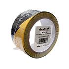 deetech WT-22YB - PVC-Warnklebeband 50mm x 22m Rolle, schwarz-gelb