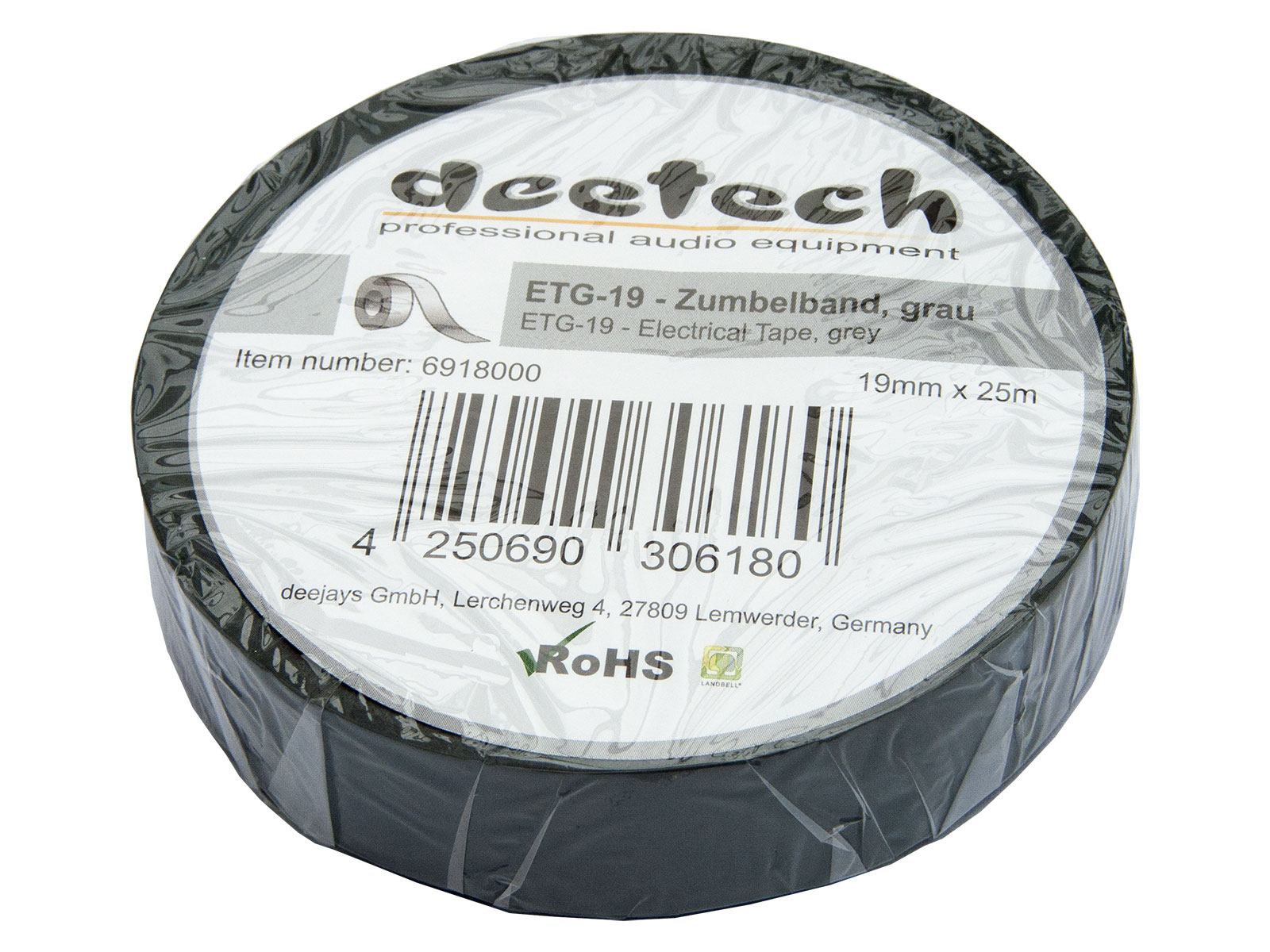 Isotape Isotape 19mm x 25m Rolle black PVC Band Isolierband Zumbelband
