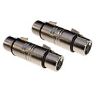 2er Set deetech Adapter / Sexchanger XLR female auf XLR female, silber