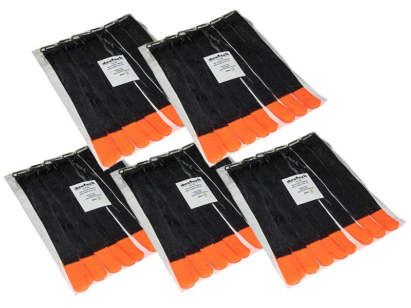 50 st kabelklett klettband kabel klettband kabelbinder 200x20mm schwarz rot ebay. Black Bedroom Furniture Sets. Home Design Ideas