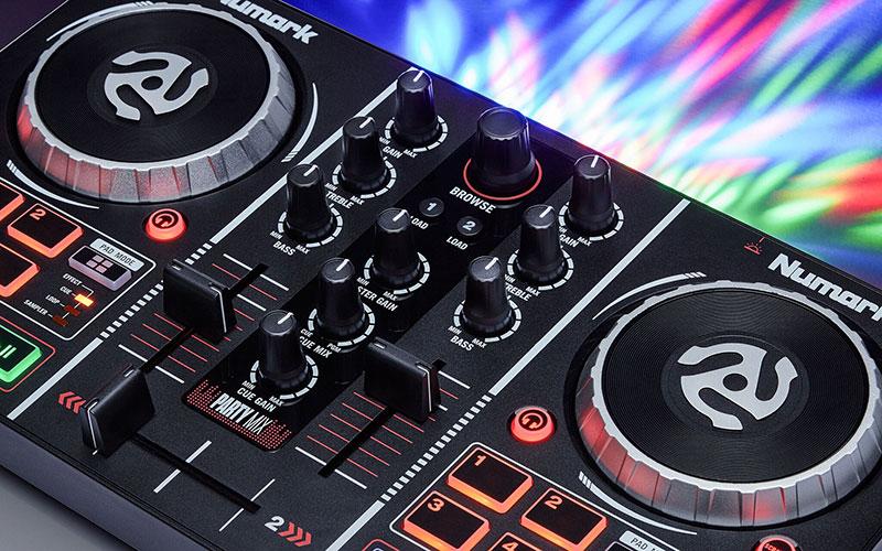 numark party mix 2 kanal dj controller f r einsteiger ebay. Black Bedroom Furniture Sets. Home Design Ideas