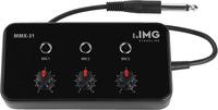 IMG Stageline MMX-31 - Mikrofon-Mischer, 3 Mono-Kanäle, separater Pegelregler
